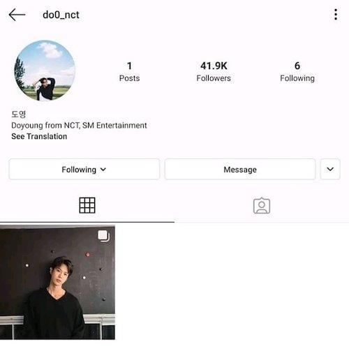 nct ドヨン Instagram